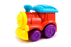 Train locomotive colorful toy Stock Photos
