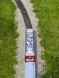 Train, locomotive, railroad from above Stock Image