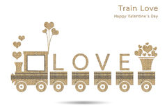 Train with love Stock Image