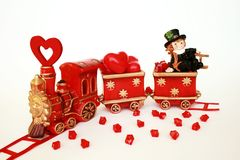 Train love and happy Royalty Free Stock Photo