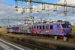 A train at Luleå Train Station Royalty Free Stock Image