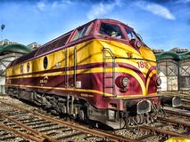 Train, Luxembourg, Locomotive Stock Photography