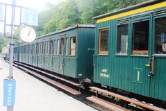 A 1900 train in Luxembourg Royalty Free Stock Photo