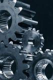 Train-mécanisme dans la tonalité duplex-bleue image stock