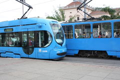 Train on Main Rail Station in Zagreb, Croatia. Royalty Free Stock Photography