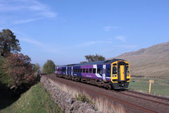 Train in Mallerstang on Settle to Carlisle line Royalty Free Stock Photography