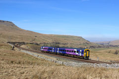 Train, Mallerstang and Wild Boar Fell, Cumbria Stock Image