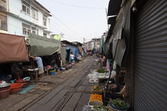 Train market Stock Photo