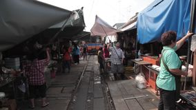 Train market Royalty Free Stock Photo