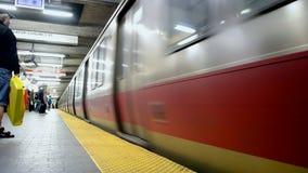 Train, Massachusetts Bay Transportation, Boston, USA, stock video footage