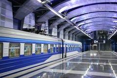 Train at metro station Royalty Free Stock Image