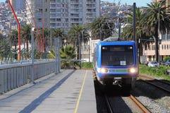 Train of Metro Valparaiso. Royalty Free Stock Photography