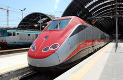 Train - Milan Central railway station Royalty Free Stock Photos