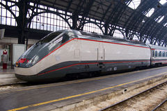 Train in Milan station Stock Photography