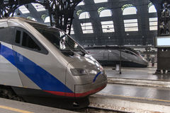 Train in Milan station Stock Image