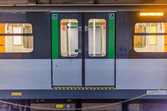 Train in milan Stock Photography