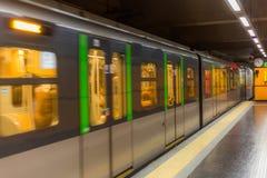 Train in milan Stock Photo