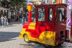Train miniature, Nicosie, Chypre Images libres de droits