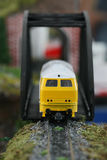 Train Model. Yellow train model in Thailand Royalty Free Stock Image