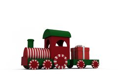 Train model with gift Royalty Free Stock Images