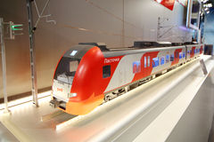 Train model at 12th All-Russian Exhibition Royalty Free Stock Photos