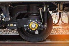 train moderne de roue sur la voie Image libre de droits