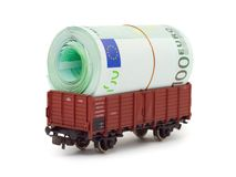 Train with money Royalty Free Stock Image
