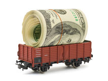 Train with money Royalty Free Stock Photo