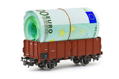 Train with money royalty free stock images