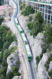 Train at Montserrat, Catalonia - Spain Royalty Free Stock Photos
