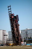 Train monument in Wroclaw. Stock Photos