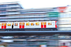 Train in motion Stock Images