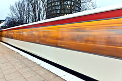 Train in motion Royalty Free Stock Photo