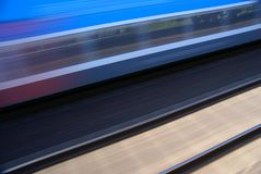 Train in motion Royalty Free Stock Images