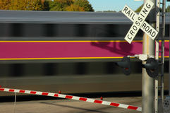 Train in motion. Commuter train Royalty Free Stock Photos