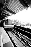 Train motion blur. A train underground in a motion blur at the station Stock Images