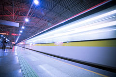 Train motion blur Stock Images