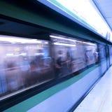 Train motion blur Stock Photo