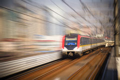Train motion blur Royalty Free Stock Photo