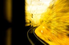 Train in motion blur Stock Image