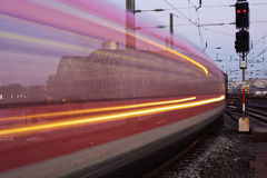 Train in motion blur Royalty Free Stock Photography