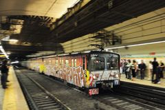 Train in Motion, Italy Royalty Free Stock Photo