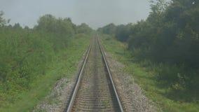 Train in Motion on Railroad