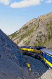 Train in mountains Stock Photography