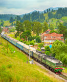 Train in the mountains Royalty Free Stock Photography
