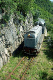 Train in mountains, Romania Royalty Free Stock Image