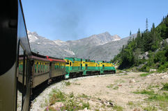 Train in the Mountians 1. A train in the mountians Royalty Free Stock Images