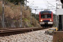 Train in movement Stock Photos
