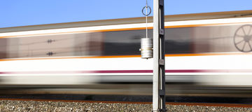 Train in movement Royalty Free Stock Image
