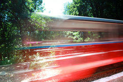 Train moving Royalty Free Stock Photos